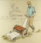 Electric mower concept for Lawson Corporation