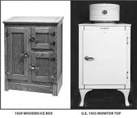 Figure 4: Traditional verses modern refrigerator